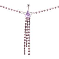zincir göbek düğme yüzükleri toptan satış-Yeni Gelmesi Damla Kristal Zincir Göbek Bar Belly Button Yüzük Göbek Zinciri Piercing Vücut Takı için Bikini Yaz Kız Hediye