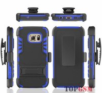 Wholesale Robot Stand Case - Shockproof Hybrid Heavy Duty Armor Robot Stand Case W  ID Card Slot & Belt Clip Holster Cover Pouch For Samsung Galaxy S7 Edge S7edge S7C15