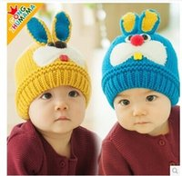 Wholesale Snow Cap Baby Girl - 2015 hot sale Baby Winter Hat Set Warmer cute Rabbit Cap for Boys Girls Kids Children thick velvet warm snow cap