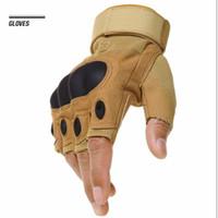 Wholesale Slips Nylon Men - Mens Outdoor Sports Gloves Fingerless Outdoor Sports Hiking Motocycle Racing Gloves Slip Resistant Breathable Tortoise Shell Sport Gloves