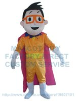 Wholesale Hero Mascots Character Costume - super man mascot costume super hero custom cartoon character cosply adult size carnival costume 3078