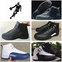 2016 air retro 12 XII pallacanestro Scarpe uomo Gym red Flu Gioco The Master Blu Blu ovo Playoff Wolf grey Taxi repilcas Sneakers