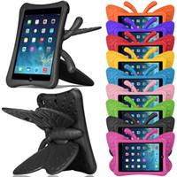 ingrosso custodia per bambini per ipad apple-3D Cartoon Butterfly Bambini Silicone Hybrid Foam Antiurto EVA Tabelt Custodia per Ipad 2/3/4 Ipad Mini 1/2/3 10.5 Tabelt 7 Ipad5 / 6/2017