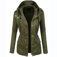 Wholesale Ladies Military Jackets Coats - Womens Military Anorak Jacket With Hood Lightweight Women Jacket 2016 Fashion Casual Ladies Jackets Zipper Up Female Coat