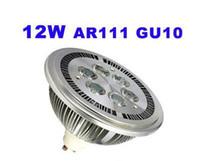 led spot 2w rohs toptan satış-12 W GU10 LED Spot Ampul QR111 AR111 Bombillas Fikstür 220 V 110 V Giyim Mağazası Dekorasyon Aydınlatma için 6x2 W Sıcak beyaz Soğuk beyaz