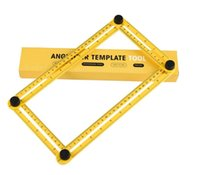 Wholesale New Angle - New Template Tool Measuring Instrument Angle square Template Tool Four-Sided Ruler Mechanism Slide DHL free shipping