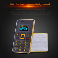 Wholesale Wholesale Memory Card 4g - Ultra Thin Mini AEKU K5 Card Phone FM Bluetooth Headset Built-in 4G Memory GSM Unlocked Phone