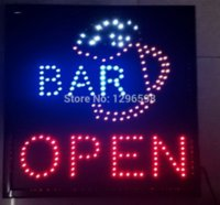 Wholesale Led Indoor Sign Open - 2015 direct selling custom led sign 19x19 Inch indoor Ultra Bright flashing Bar pub business store open signboard