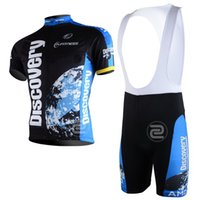 Wholesale Discovery Cycling Jersey Bib Shorts - 2013 DISCOVERY TEAM BLUE Short Sleeve Cycling Jersey Bike Bicycle Wear + BIB Shorts Size XS-4XL D011