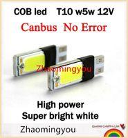 Wholesale 5w W5w - 10PAIR w5w t10 canbus error free t 10 led cob 5w 12v parking auto t10 5w5 Lamp car led t10 white bulb car styling external lights