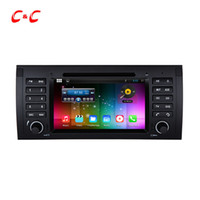 Wholesale Dvd Car For X5 - Quad Core Android 5.1.1 Car DVD Player for BMW E39 with Radio GPS Navi Wifi DVR Mirror Link BT 1024X600+Free Gifts