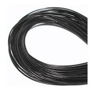 Wholesale Jewelry Leather Bracelet Cord - fashion Wholesale 1mm Blackserers Free shiping Genuine Round 100% COW Real Leather Jewelry Cord String For Bracelet & Necklace hot good