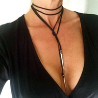 Chokers spiked leather choker - 7 Styles Adjustable Black Choker Silver Spike Faux Leather Choker Lariat Tie Necklace Rivet Leaf Pearl Tassel Fabric Choker Necklace