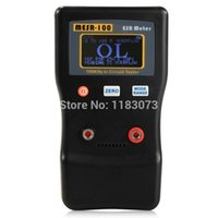 Wholesale Low Resistance Meter - LCD Digital Capacitance Resistance Meter ESR Capacitor Low Ohm Meter 100.0R In Circuit Capacitance Online Test 10Sets lot Free Shipping