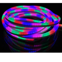 Lampes À Cordes Led Multicolores Pas Cher-RGB LED Neon Rope Lights AC110 AC220V Neon Strip Light Flexible SMD5050 Neon Signs Multi Color Led Bar Signes 60led / m