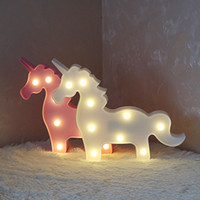 Wholesale Baby Moods - Marquee Unicorn LED Letter Lamp 3D LED Baby Night Light Romantic Dim Mood Table Lamp for Kids Room Decoration