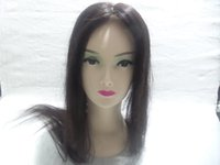 Wholesale Custom Indian Lace Wig - European Hair Full Lace Wigs Simulation Of The Scalp Simulation Of The Scalp Color # 2 Straight Hair Can Design Custom Good Quality Kabell