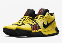 Wholesale Classic Men Basketball Shoes - Top Quality Kyrie 3 Bruce Lee Shoes Classic Basketball Shoes Mamba Mentality Signature Shoes Outdoor Sports Sneakers 11 Colors