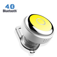 Wholesale Mic Phone Control Talk - Mini Wireless Bluetooth Earphone Q3 In-Ear V4.0 Stereo Headphone Voice Control Headset with Mic for All Phone Talk and Music