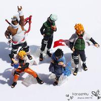 Wholesale One Piece Full Doll - Juguetes One Piece free Shipping Naruto 1set 10-15cm Shippuden Sasuke Uzumaki Kakashi Doll Dolls Full 5pcs Premium Gifts (1set=5pcs) Retail