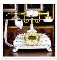 Wholesale Garden Wedding Ceremony - Top Good art garden romantic European retro antique landline phone wooden lovely wedding fixed classical telephone antique wood Landline