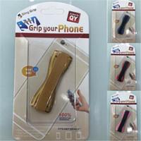 parmak tutamağı toptan satış-Parmak kavrama askısı cep tutucu yapışkan elastik bant kolu sling kavrama tutucu iphone samsung sony ipad tab için renkli