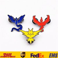 Wholesale Poke Brooches Pins New Unisex Women Men Cartoon Team Instrinct Valor Mystic Badge Brooches Jewelry XMAS Gifts HH B01