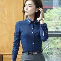 c6c095d5b275a Spring Autumn fashion shirt women OL formal blusa long sleeve all-match  chiffon blouse office ladies business plus size tops