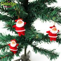 Wholesale Santa Claus Tree Ornaments - 6pcs lot Santa Claus Pendant Red Christmas Tree Ornaments Christmas Decoration Supplies Indoor Decoration Arbol De Navidad