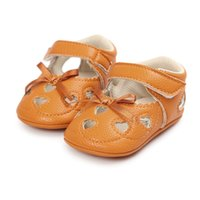 Wholesale Korean Winter Shoes - Everweekend Girls Bow Heart Hollow Out PU Leather Shoes Sweet Baby Candy Color Shoes Lovely Kids Korean Fashion Autumn Shoes