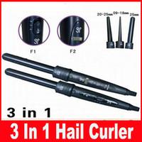 Wholesale Wholesale Curling Wands - Professional Interchangeable 3 In 1 Hail Curler Women Beauty Hair Rollers Curler Iron Curling Wand Iron Hair Care Styling