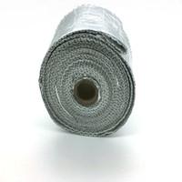 "Wholesale Exhaust Meter - 2"" x 20 Meters Per Roll Aluminium Foil Fiberglass Exhaust Header Heat Wrap With 5 Pieces Of Stainless Ties Kit"