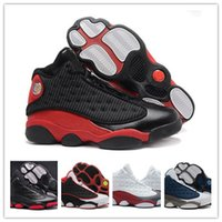 Wholesale Hologram Bands - 2017 With Box Air Retro 13 XIII Basketball Shoes black cat Bred Navy Game hologram grey toe Flint Grey Athletics Sport Sneaker Boots