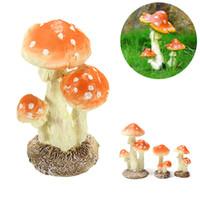ingrosso dollhouse di funghi-Decorazione in miniatura di casa delle bambole in miniatura di terrario con giardino fatato