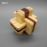 solutions de jouets achat en gros de-Jeu de solutions familiales Kong Ming Lock - Jouet amovible - Déverrouille - Puzzle en bois pour adultes