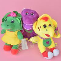 "Wholesale Plush Barney Friends - 3pcs set 7"" 18cm Barney Friend Baby Bop BJ Plush Doll Stuffed Toy For Baby Gifts New"