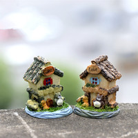 Wholesale House Design Build - New design 2 floor villa house building dollhouse fairy garden miniatures gnomes moss terrariums resin craft for home decoration zakka