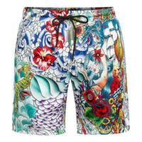 Wholesale Names Swimming - Wholesale-2016 Brand Name Printed Flowers Men's Surf Board Shorts Swimming Trunks Men Casual Boardshorts Beach Swimwear Short