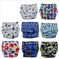 Wholesale Diapers Tpu - Baby Diapers Toddler Cloth Nappies Nappy Diapers TPU Print Reusable Diaper Covers Waterproof Washable Adjustable Newborn Cloth Diapers B3161