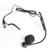 Wholesale Condenser Microphone Xlr - WM05 Cardioid Condenser Headworn Headset Microphone with Flexible Wired Boom Mini XLR Connector Top Quality 50 pieces