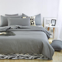 Wholesale zebra print bedding king - Wholesale- New style solid colors and zebra pattern design,3pcs 4 pcs bedding sets bed sheet bedspread duvet cover flat sheet  pillowcases