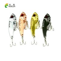 Jigs outdoor vibrator - 2016 sport outdoor HENGJIA New Design Metal VIB isca Fishing lures CM G hooks fishing tackle vibrator Lure Bait Spoon Lures