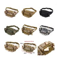 Multiple Pocket Utility Tactical Waist Bag Military Fanny Pack Alça ajustável Hip Pack Exército Waist Pack Bum Bag Fitness Running Belt Pouch