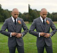 Wholesale Wedding Suits Pants Price - 2015 New Dark Grey Groommen Tuxedos Cheap Slim Fit Best Price Men Wedding Suits Free Shipping (Jacket+Pants+Tie+Vest)