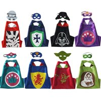 Wholesale Wholsale Children - 5 pieces lot Halloween two-tier STAR WARS cosplay capes masks classic Halloween toys high quality wholsale children plaything free shipping