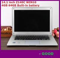 Wholesale Atom Computers - wholesale 14.1 inch ultrabook slim laptop computer Itel Atom X5-Z8300 Z140C Quad-core laptop 4GB 64GB WIFI Windows 10 laptop notebook