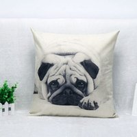 Wholesale Square Pillow Plain - Cotton Linen Square Cushion Covers Handmade Printed Plain Cartoon Sofa Cushions Pillows Covers Insert Not Included