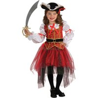 Wholesale Teenage Pirate Costume - 2016 Chilrden's Day Stage Dance Dresses Cosplay a Set Clothing Halloween Costumes Suit Clothes Girls' Garment Mixed Color Free Shipping