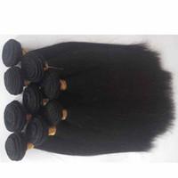 işlenmemiş hazır saç satışı toptan satış-İşlenmemiş Brezilyalı bakire Saç Uzatma Sınıf 6A sıcak satış Perulu Indin remy saç atkı Doğal Renk 1 adet / grup 8-26 inç İnsan saç örgüleri