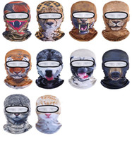 Prix ​​d'usine Animal mask Capot 3D Sports de plein air Vélo Cyclisme Masques de moto Ski Hood Hat Veil Masque facial UV